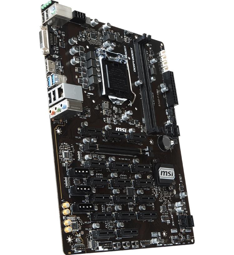 MSI B360-F PRO LGA 1151 for mining 12 video cards